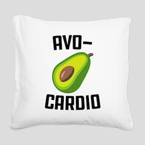 Avo-Cardio Avocado Emoji Square Canvas Pillow