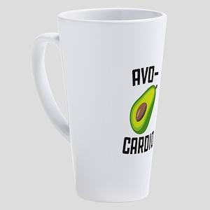 Avo-Cardio Avocado Emoji 17 oz Latte Mug