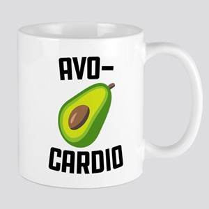 Avo-Cardio Avocado Emoji 11 oz Ceramic Mug