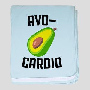 Avo-Cardio Avocado Emoji baby blanket