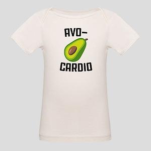 Avo-Cardio Avocado Emoji Organic Baby T-Shirt