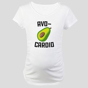 Avo-Cardio Avocado Emoji Maternity T-Shirt
