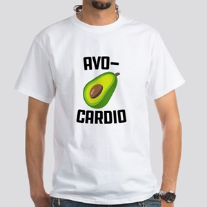Avo-Cardio Avocado Emoji White T-Shirt