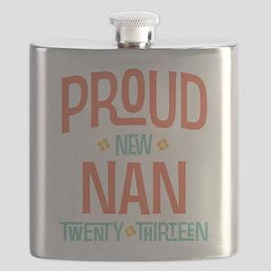 Proud New Nan 2013 Flask