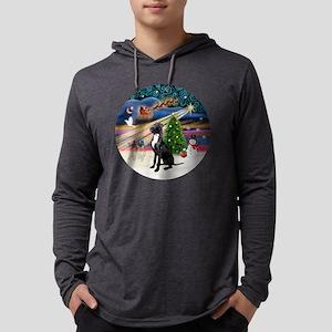 Xmas Magic - Great Dane (black-n Mens Hooded Shirt