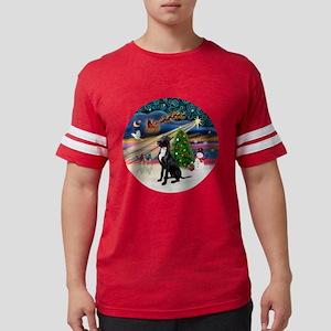 Xmas Magic - Great Dane (black Mens Football Shirt