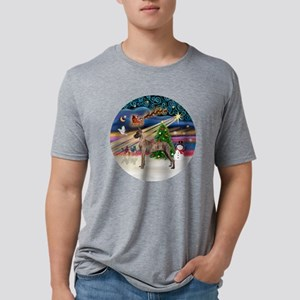 Xmas Magic - Great Dane (br Mens Tri-blend T-Shirt