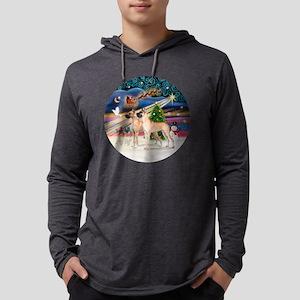 Xmas Magic - Great Danes (TWO-fa Mens Hooded Shirt