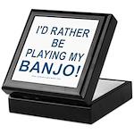 Playing Banjo Keepsake Box