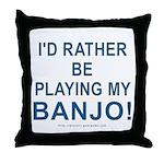Playing Banjo Throw Pillow
