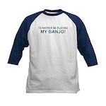 Playing Banjo Kids Baseball Jersey