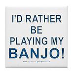 Playing Banjo Tile Coaster