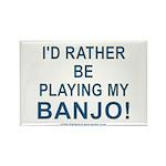Playing Banjo Rectangle Magnet