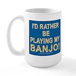 Playing Banjo Large Mug