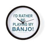 Playing Banjo Wall Clock