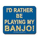 Playing Banjo Mousepad