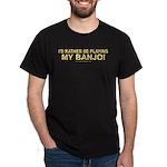 Playing Banjo Black T-Shirt