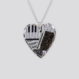 Oboe Necklace Heart Charm