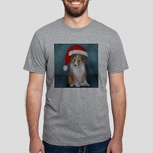 xmas-sheltie-tote Mens Tri-blend T-Shirt
