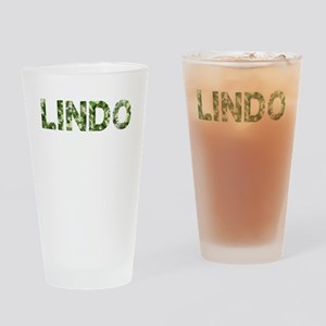 Lindo, Vintage Camo, Drinking Glass