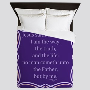 Bible Verse John 14 6 Queen Duvet