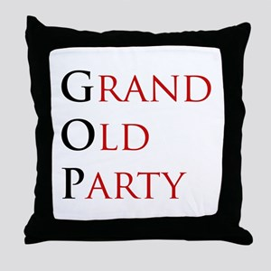 Grand Old Party (GOP) Throw Pillow