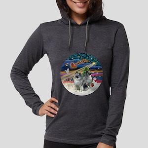 Xmas Magic - Keeshond (two).pn Womens Hooded Shirt