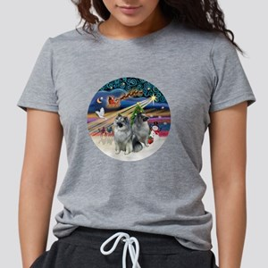 Xmas Magic - Keeshond (tw Womens Tri-blend T-Shirt