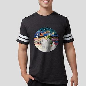 Xmas Magic - Maltese (TWO) Mens Football Shirt