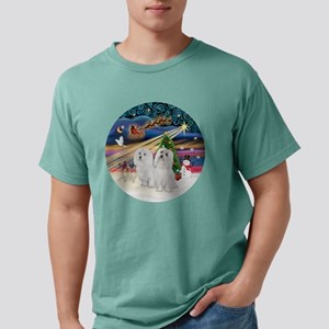 Xmas Magic - Maltese (TW Mens Comfort Colors Shirt