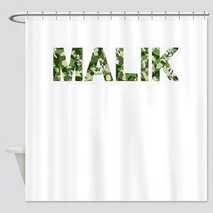 Malik, Vintage Camo, Shower Curtain