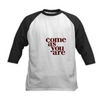 come as you are Kids Baseball Jersey