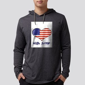 LOVE High jump stars and stripes Mens Hooded Shirt