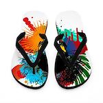 Colour skull design Flip Flops