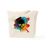 Colour skull design Tote Bag