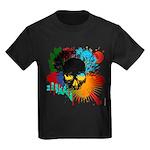 Colour skull design Kids Dark T-Shirt