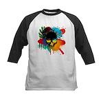 Colour skull design Kids Baseball Jersey
