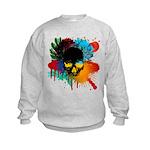 Colour skull design Kids Sweatshirt