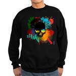 Colour skull design Sweatshirt (dark)