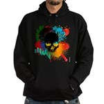 Colour skull design Hoodie (dark)