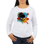 Colour skull design Women's Long Sleeve T-Shirt