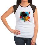 Colour skull design Women's Cap Sleeve T-Shirt