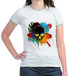 Colour skull design Jr. Ringer T-Shirt