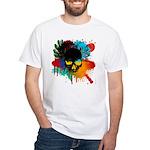 Colour skull design White T-Shirt