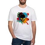 Colour skull design Fitted T-Shirt