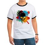 Colour skull design Ringer T