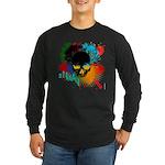 Colour skull design Long Sleeve Dark T-Shirt