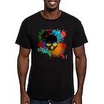 Colour skull design Men's Fitted T-Shirt (dark)