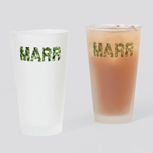 Marr, Vintage Camo, Drinking Glass