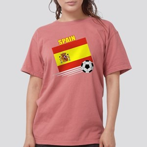 spain soccer &ball drk Womens Comfort Colors Shirt